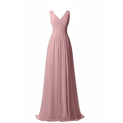 Ever Girl Women\'s Bridesmaid Chiffon Prom Dresses Long Evening Gowns ...
