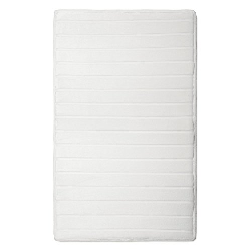Minds In Sync 10809 Microdry Softlux Bath Mat, White