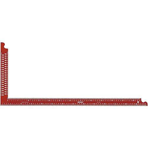 SOLA Zimmermannswinkel ZWCA mit Anreißlöcher Schienenlänge 600 mm, rot, 56132001
