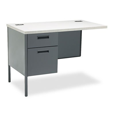 Metro Classic Workstation Return, Left, 42w x 24d, Gray Patterned/Charcoal, Sold as 1 Each by Generic