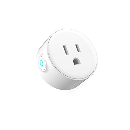 Smart Plug Mini Wireless Outlet Works with Alexa Echo and Google Home Assistant Supports Electrical Timing Socket Remote Control Devices from Anywhere IFTTT No Hub Required 1 Pack ()