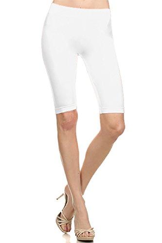 White Knee Length Leggings