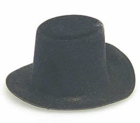 Darice 12767 Felt Black Top Hat, 2 X 1.25 X 1-inches, Black