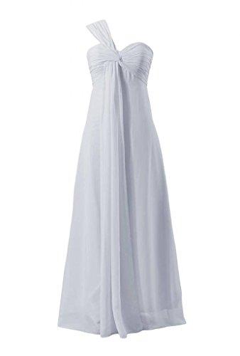 Daisyformals Femmes Longues En Mousseline De Soie Une Épaule Robe De Soirée Robe De Demoiselle D'honneur (bm316) # 57 Argent