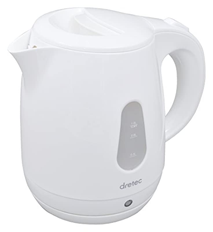 dretec(드 re 텍) 전기 주전자(케토루.kettle) T《피》 주전자 귀여운 멋쟁이 PO-129WT(화이트)