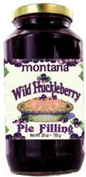 Fresh Pie - Fresh Huckleberry Pie Filling 28 oz Montana Grown Vegan Friendly | Gluten Free | Non-GMO Best for Pies Cobblers also use for Toppings or Desserts (Huck 28 oz)