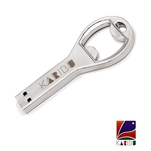 KARIBU™ 64GB USB 2.0 Interface, Plug and Play, Durable Solid Metal Casing Metal Color Opener Pendrive