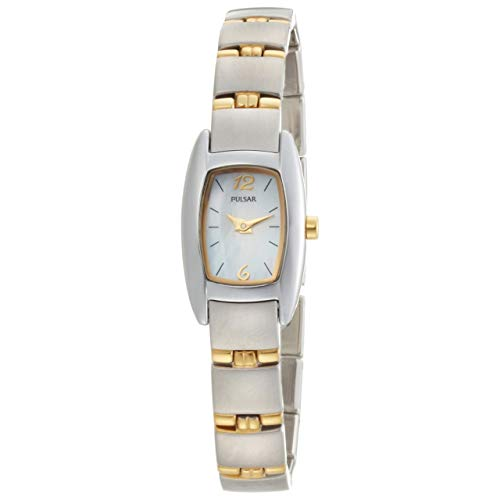 Of Pearl Watch Mother Womans (Pulsar Women's PJ5107 Dress Sport Mother of Pearl Two-Tone Stainless Steel Watch)