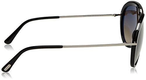 0178197ed6e84 Amazon.com  Tom Ford Sunglasses TF 452 Stacy Sunglasses 01K Black Metal  57mm  Tom Ford  Clothing