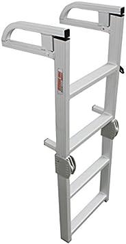 Extreme Max 3005.4089 Aluminum 4-Step Compact Folding Pontoon Boarding Ladder