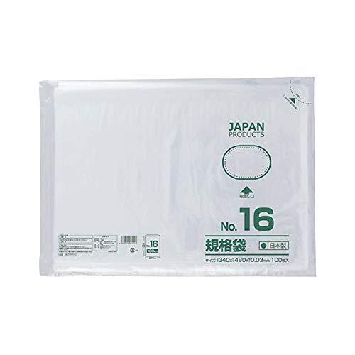 (まとめ) クラフトマン 規格袋 16号ヨコ340×タテ480×厚み0.03mm HKT-T016 1セット(500枚:100枚×5パック) 【×2セット】 生活用品 インテリア 雑貨 文具 オフィス用品 袋類 その他の袋類 14067381 [並行輸入品]   B07KYPQM2Z