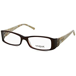 Vogue VO 2595B Eyeglasses Styles Brown Frame w/Non-Rx 50 mm Diameter Lenses, VO2595B-1665-50