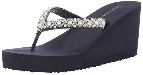 - Touch Ups Women's Shelly Wedge Sandal Navy 7 M US