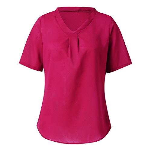Rose Bouquet Halter Lace - Sanyyanlsy Women's Chiffon Ruched V-Neck Shirt Vest Short Sleeve Scoop Neck Tank Tops Pulz Size Casual Summer Blouse Rose