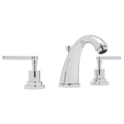 Widespread Lav Faucet Polished Brass - Rohl A1208LMAPC-2 ROHL AVANTI BATH WIDESPREAD LAVATORY FAUCET IN POLISHED CHROME WITH METAL LEVER HANDLES AND POP-UP AVNTI WDSPRD LAV MTL P.CR