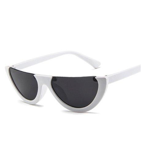 Gradiente Sin Diseño Gafas Rosa De blanco Mitad Marco Sol negro KLXEB Gafas De Sol De Mujeres Reborde 5RvOx0qnw7