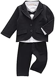 LOLANTA Baby Boys Tuxedo Suit Formal Party Set Wedding Outfit