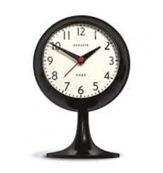 Newgate Reloj de mesa con despertador Dome Negro