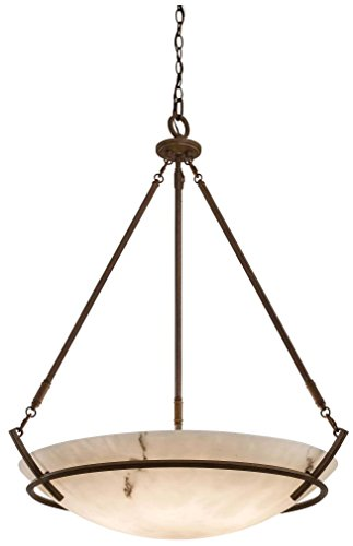 Alabaster Bowl Pendant Light