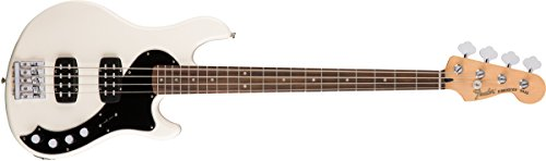 Fender 143710305 Deluxe Dimension Bass, Rosewood Fingerboard, Olympic White Deluxe Active Precision Bass