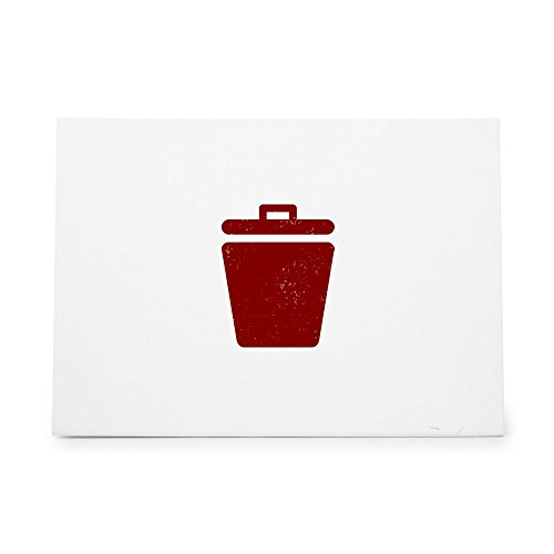 Waste Basket Bin Garbage Recycle Style 5797, Rubber Stamp Shape great for Scrapbooking, Crafts, Card Making, Ink Stamping Crafts