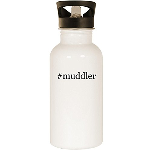 (#muddler - Stainless Steel Hashtag 20oz Road Ready Water Bottle, White)