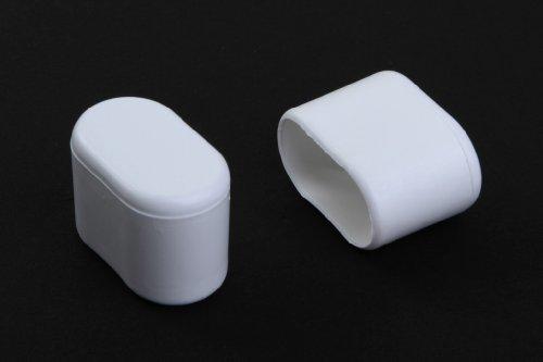 Young schwinn DESIGN - Taco protector para pata de silla (4 unidades, 30 x 15 mm (medidas internas), de plastico, color blanco)