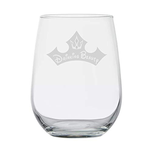 My Princess Name is ★ Drinking Beauty ★ Princess Wine Glass ★ Engraved ★ Birthday Present ★ Funny Anniversary Gifts ★ Couples ★ Handmade ★ Crown ★ Aurora ★ Movie -