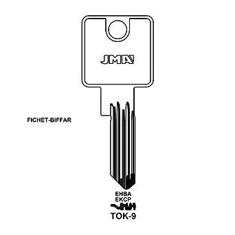 2 llaves TOK-9 JMA Tok Winkhaus en blanco: Amazon.es: Amazon.es