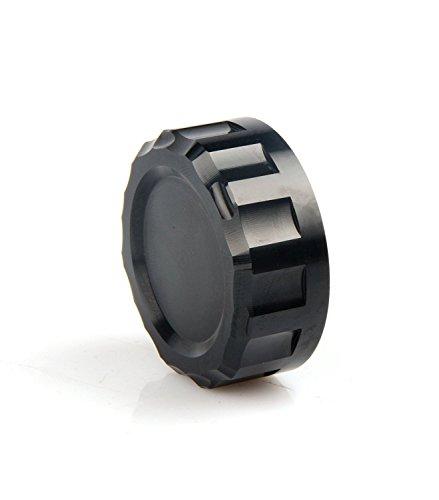 CNC Aluminum Oil Cover Rear Brake Fluid Reservoir Cap For KAWASAKI Z300 2016 Z650 2017 Z750 2006 2007 2008 2009 2010 Z900 2017 2018 Z800 2013 2014 2015 2016 2017 Z1000 2007-2016 BLACK