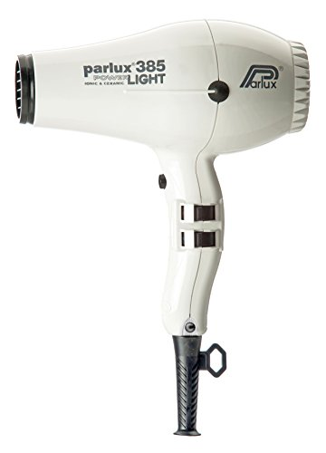 Parlux 385 Powerlight Professional Ionic and Ceramic Hair Dryer White by Parlux