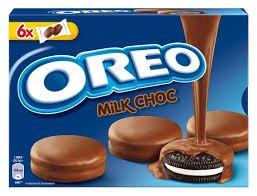 Oreo galletas bañadas en chocolate con leche 246 gr.