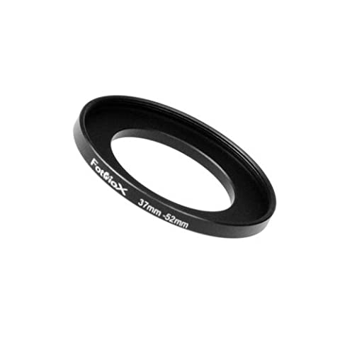 Fotodiox Metal Step Up Ring Filter Adapter, Anodized Black Aluminum 37mm-52mm 37-52 mm - 52 Mm Step