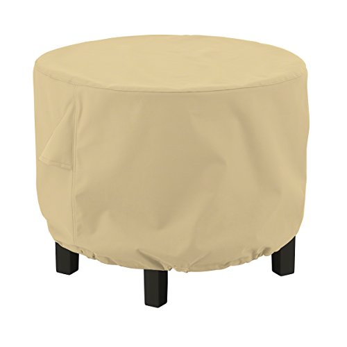 Classic Accessories Terrazzo Round Ottoman/Coffee Table Cover, Small