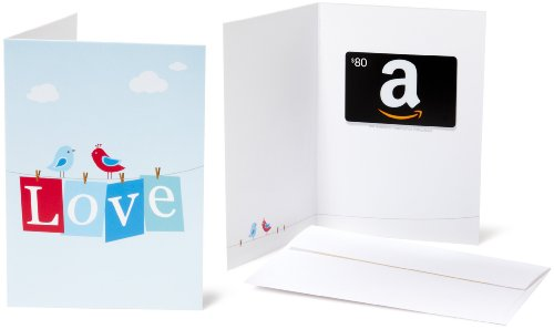 Amazon.com $80 Gift Card in a Greeting Card (Love Design)
