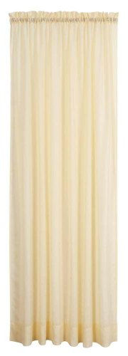 Opaque Panels - Stylemaster Splendor 56-Inch by 84-Inch Opaque Batiste Rod Pocket Panel, Maize