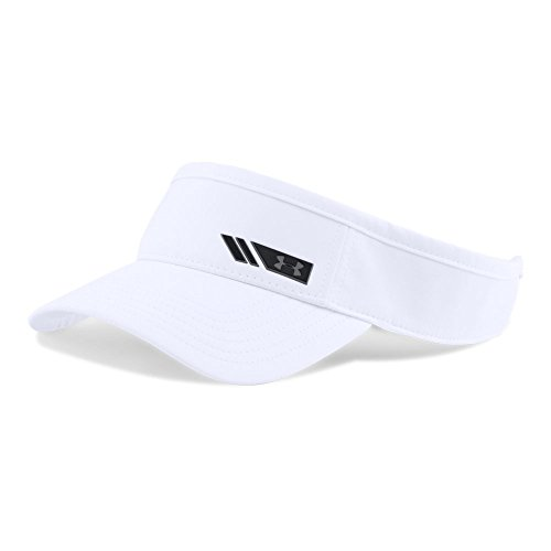 Under Armour Men's Renegade Visor, White (100)/Stealth Gray, One Size