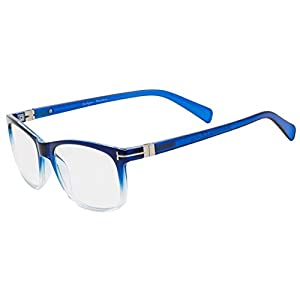Eyekepper Reading Glasses Fashion Reading Eyeglasses Men Women (Blue, 0.00)