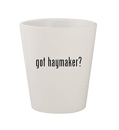 got haymaker? - Ceramic White 1.5oz Shot Glass