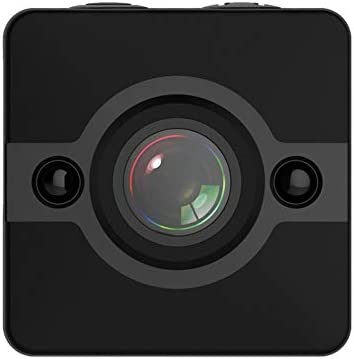 Negro C/ámara remota SQ12 Mini WiFi C/ámara de Buceo de Ultra Alta definici/ón con Lente Gran Angular de 155 Grados C/ámara port/átil