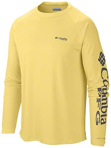 (Columbia Men's PFG Terminal Tackle Long Sleeve Tee , Sunlit/Grill Logo, Large)