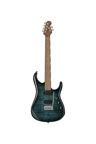 Sterling by Music Man 6 String Solid-Body Electric Guitar, Right, Flame Maple Teal (JP150FM-TL)