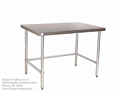 Amazoncom X Open Base All Stainless Steel Work Table - Stainless steel open base work table