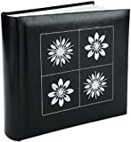 Mbi Embroidered 4 Inch by 6 Inch Photo Album-Holds 2-Up Photos, 200 Capacity