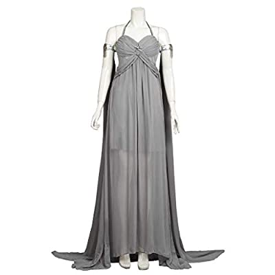 CosFantasy Daenerys Targaryen Khaleesi Cosplay Costume Long Chiffon Dress mp004184 Grey