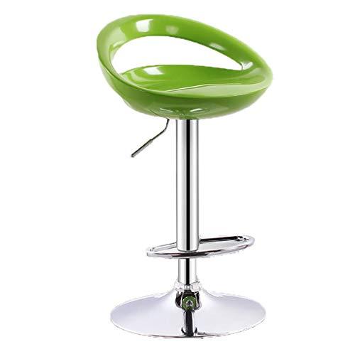 BINZHI Bar Stool - 360° Rotating Lift, high Stool Rotating Beauty Salon Table and Chair 4 Colors Bar Stool Chair (Color : C) ()