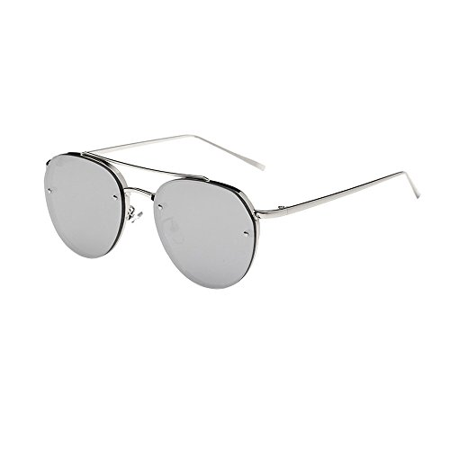 - JJLIKER Classic Vintage Aviator Mirrored Sunglasses Metal Frame Polarized Protection Goggle Reflective Flat Lens Eyewear