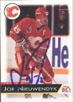 Joe Nieuwendyk Calgary Flames 1995 EA Sports Autographed Card. This item comes with a certificate of authenticity from Autograph-Sports. Autographed ()