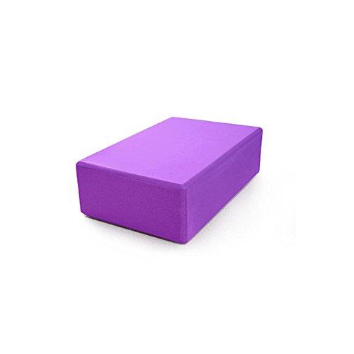 KOMNTY Eva Yoga Block 200g High Density Compression Anti-Skid Beginner Yoga Aids (Purple)