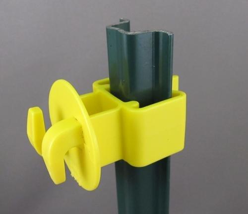 Yellow Post Insulator (Snug Garden 'U' Post)